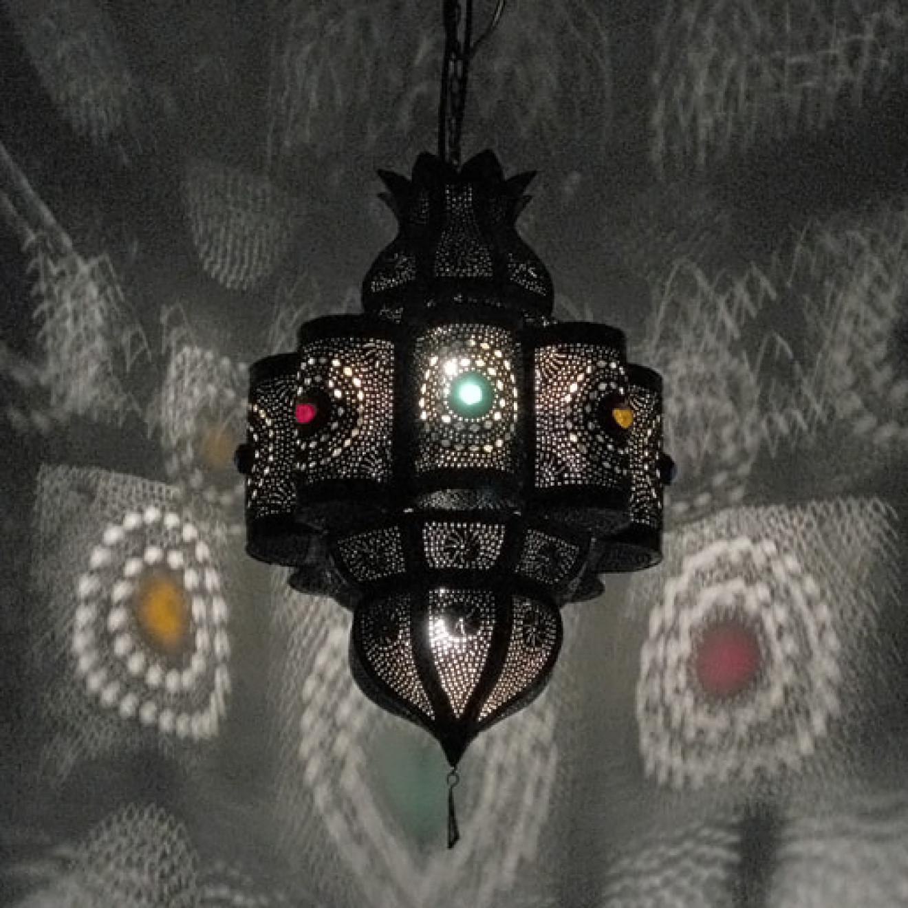 Orientalische deckenlampe palas k aus metall for Orientalische wandlampen metall