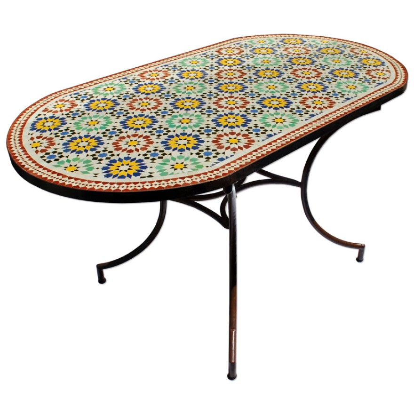 gartentisch aus marokko. Black Bedroom Furniture Sets. Home Design Ideas
