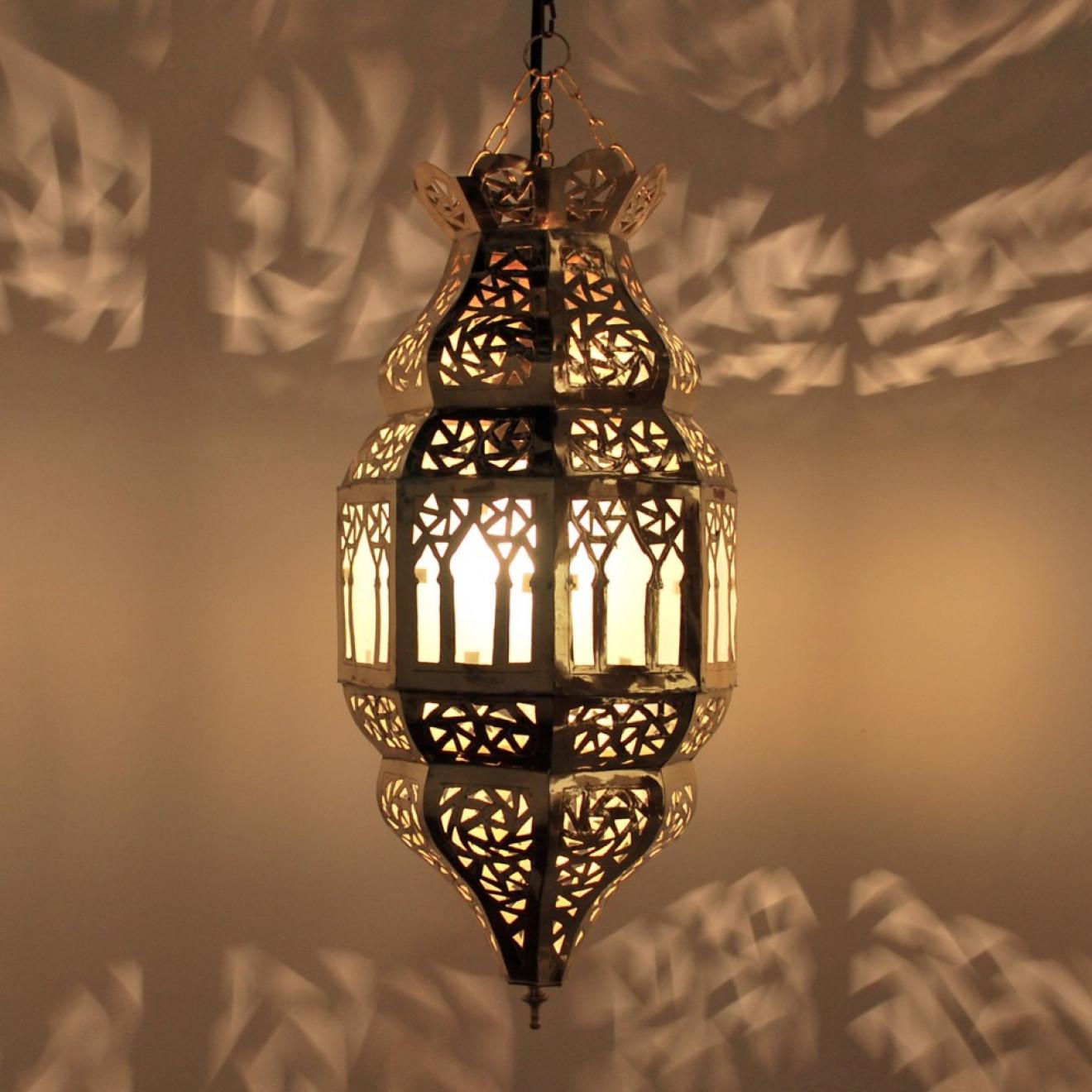 orientalische h ngeleuchte trombia milchglas 2 aus messing. Black Bedroom Furniture Sets. Home Design Ideas