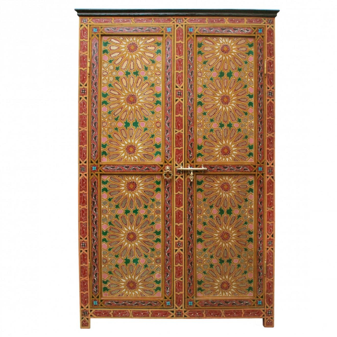 marokkanischer holzschrank dora h201cm. Black Bedroom Furniture Sets. Home Design Ideas