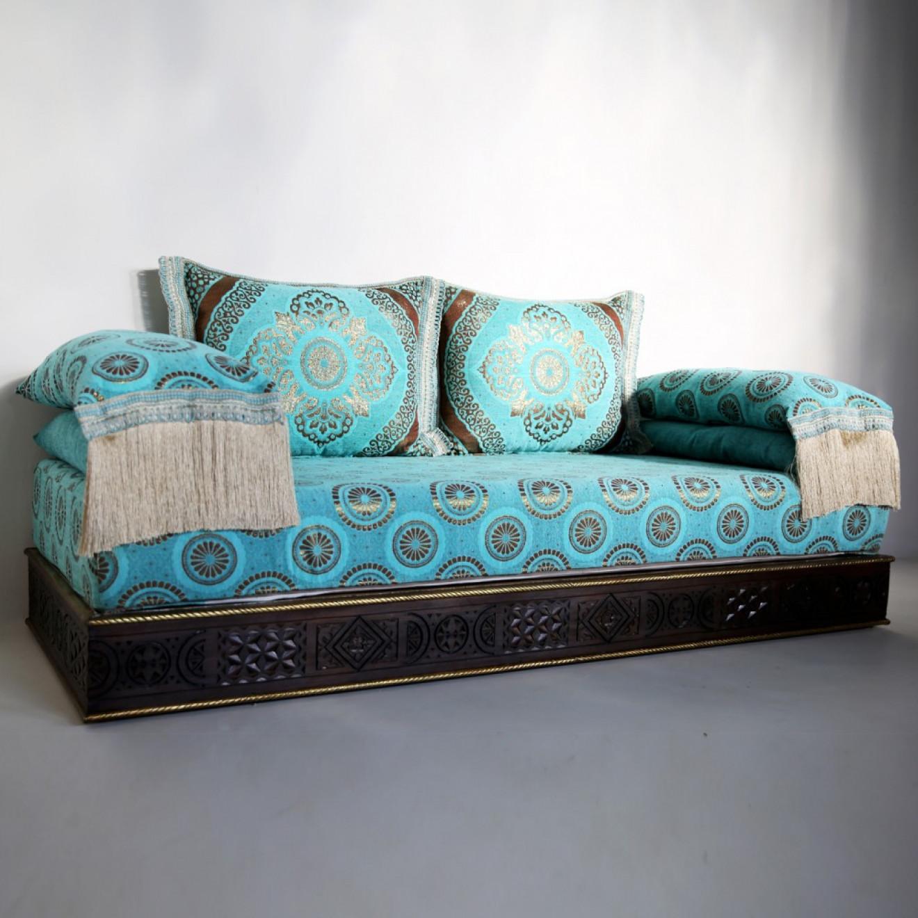 orientalische marokkanische couch aus massivholz amana. Black Bedroom Furniture Sets. Home Design Ideas