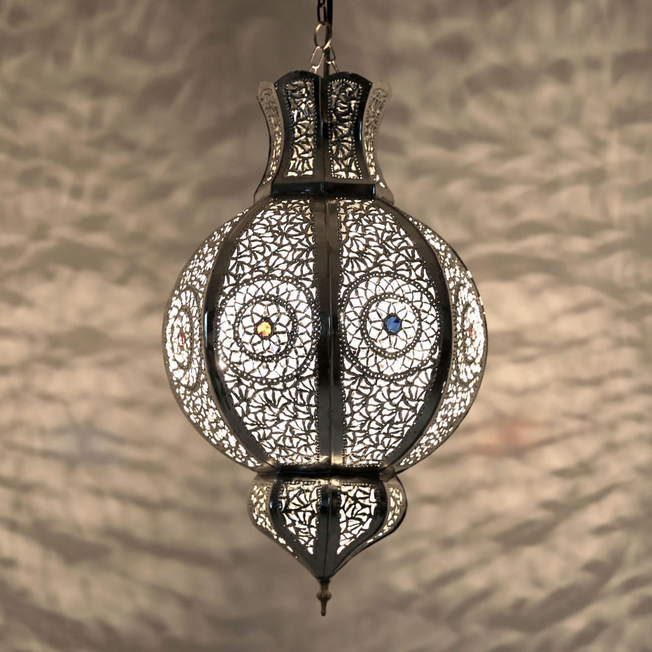 arabische teetische marokkanische arabische h ngelampe malika silber