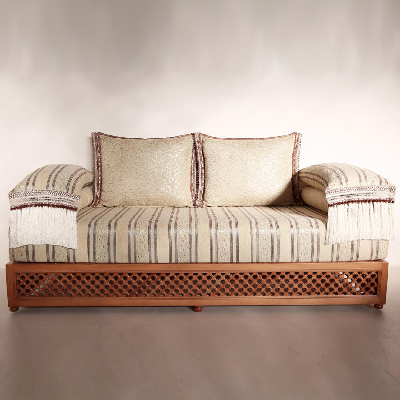 Marokkanische Couch aus Massivholz \