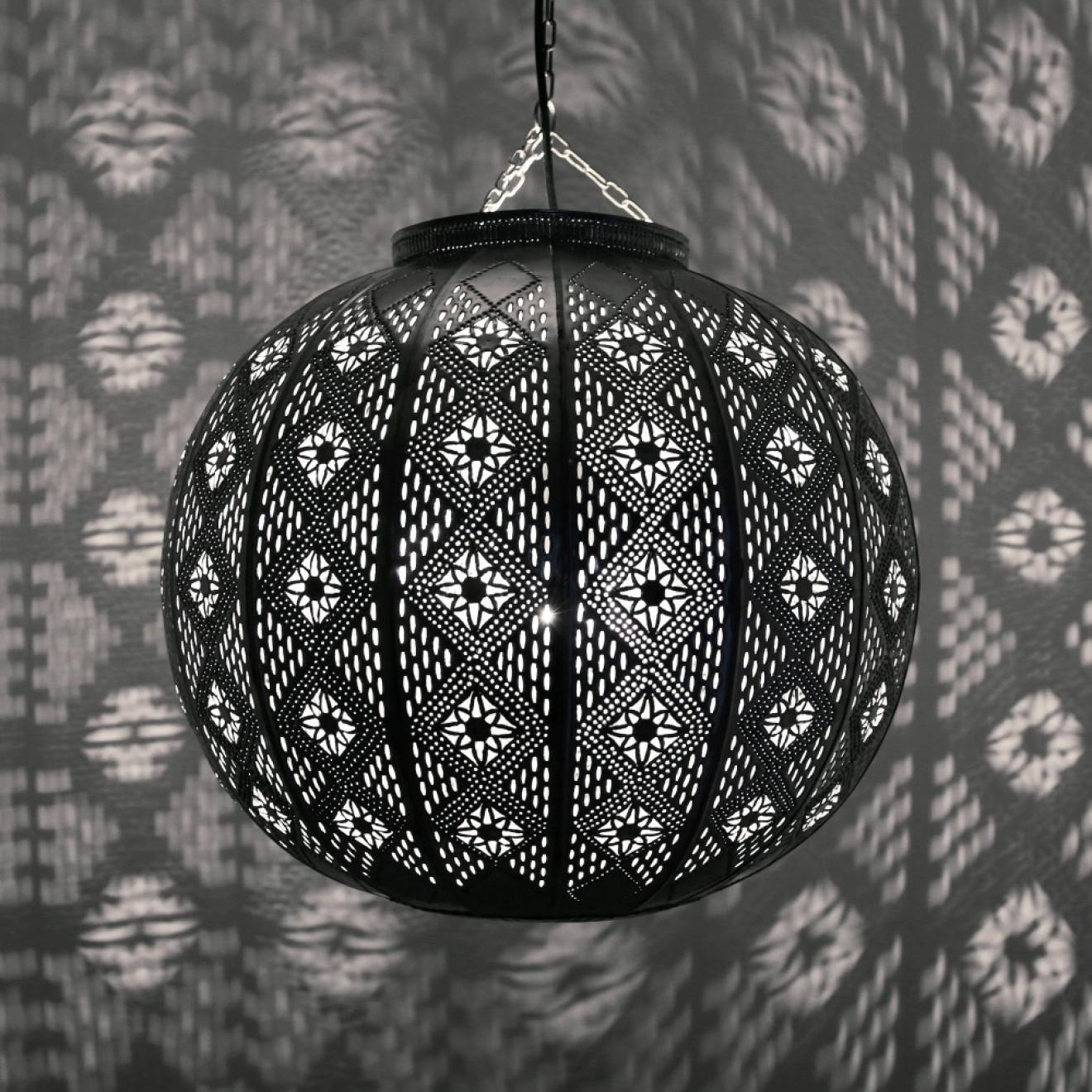 Orientalische Deckenleuchte MIMOSA Silber D38