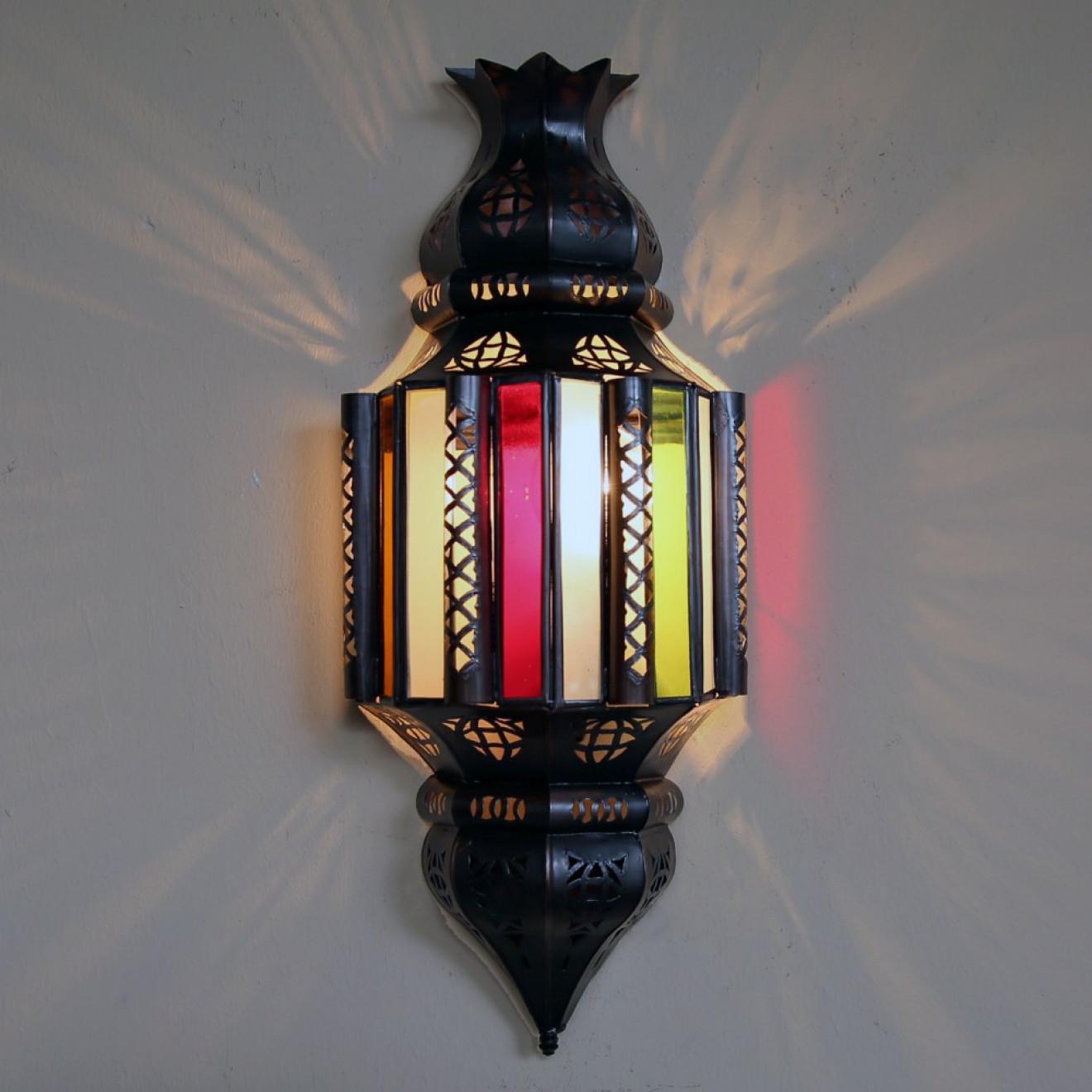 Orientalische marokkanische Wandlampe aus Glas 1001 Nacht lamp Wandleuchte bal 1