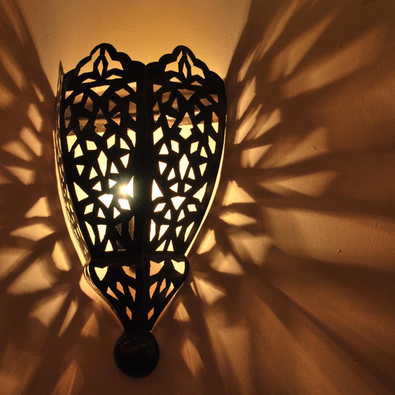 Orientalische wandleuchte taji h37cm for Orientalische wandlampen metall