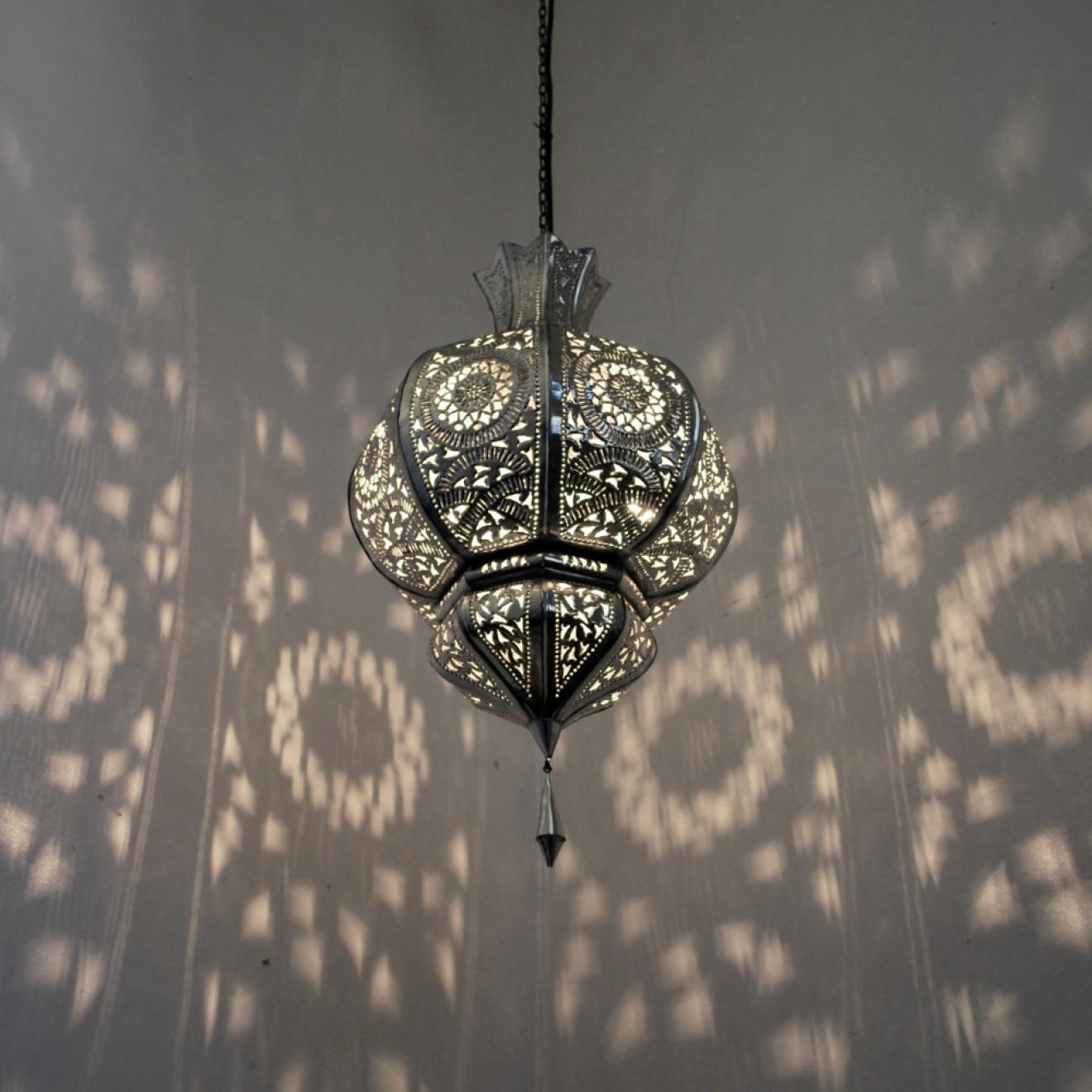 Orientalische lampen yamina silber for Orientalische wandlampen metall