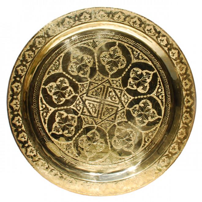 Orient teetisch aus messing 70cm for Messing beistelltisch katalog