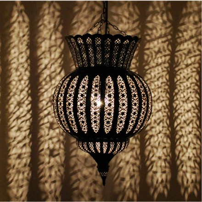 Orientalische h ngelampe aus metall kora kazdir for Orientalische wandlampen metall