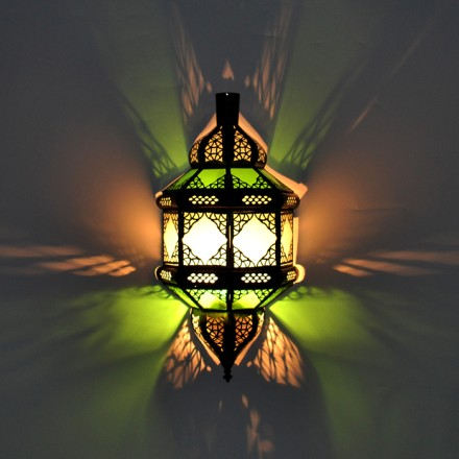 Wnadlampenschirm aus glas for Marokkanische wandlampe
