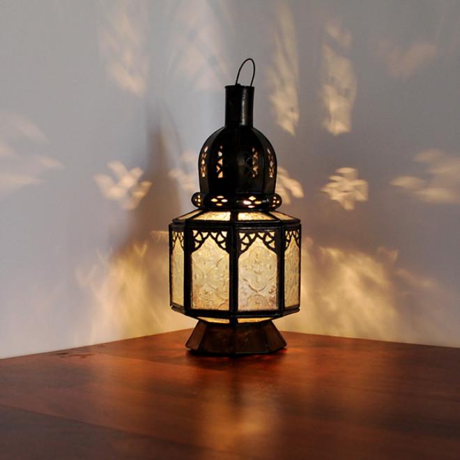 marokkanische glaslaterne samara weiss. Black Bedroom Furniture Sets. Home Design Ideas