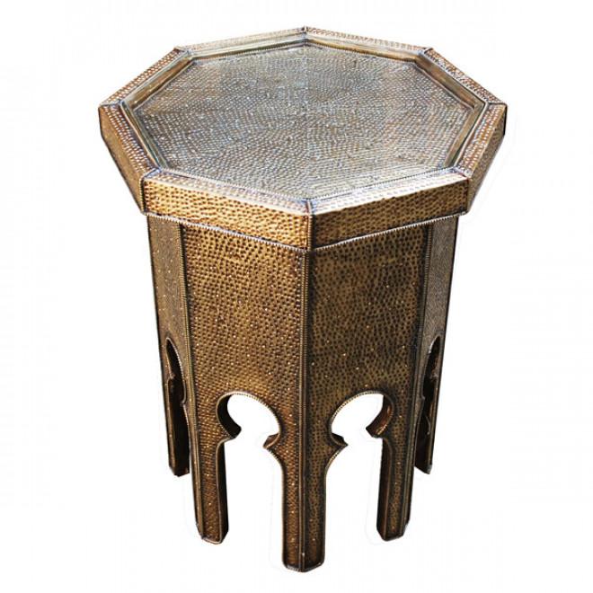Orientalischer teetisch dahbi aus messing for Messing beistelltisch katalog