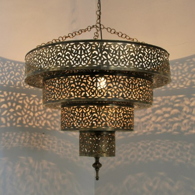 marokkanische lampe aus messing serouj 1. Black Bedroom Furniture Sets. Home Design Ideas