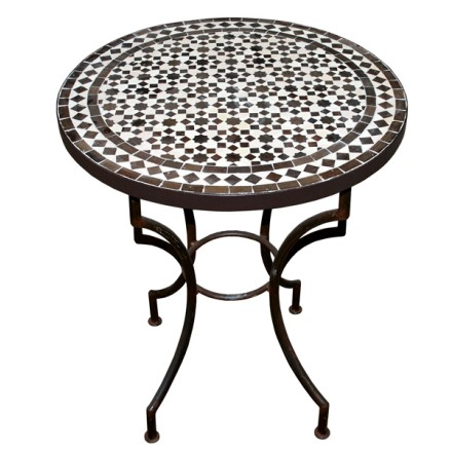 mosaiktisch aus marokko. Black Bedroom Furniture Sets. Home Design Ideas
