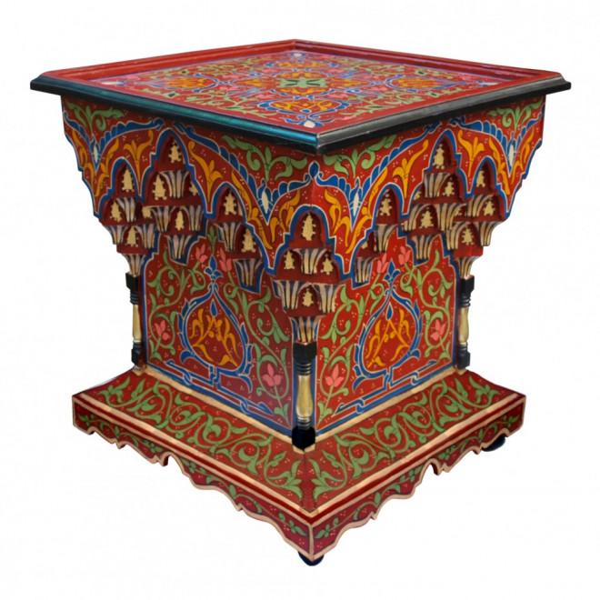 Orientalischer Teetisch Aus Holz Mkarbaz Handbemalen