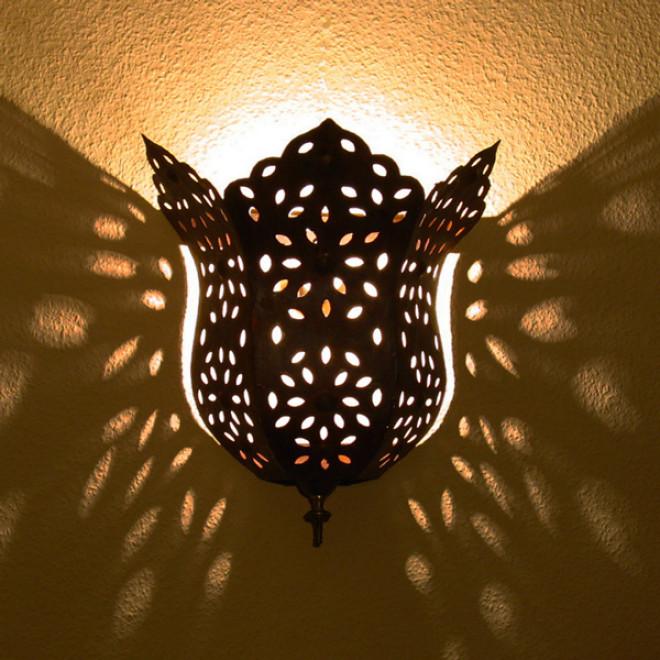Orientalische wandlampe hayat h37cm for Orientalische wandlampen metall