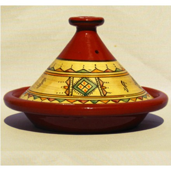 "Tajine Tagine Tontopf Marokkanischer Kochtopf Kochtajine /""Wadlaw/"" 32cm Natur L"