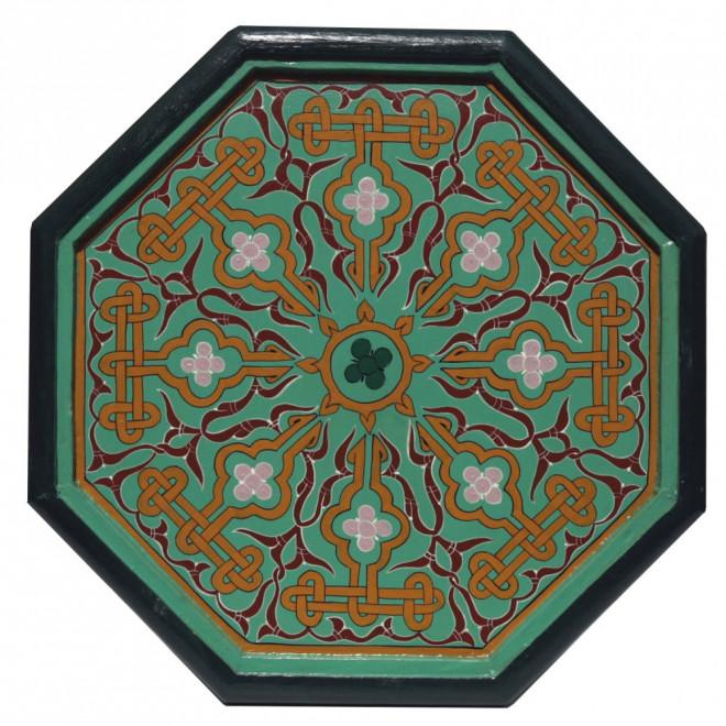 Orientalischer Teetisch Aus Holz Khadira Handbemalen