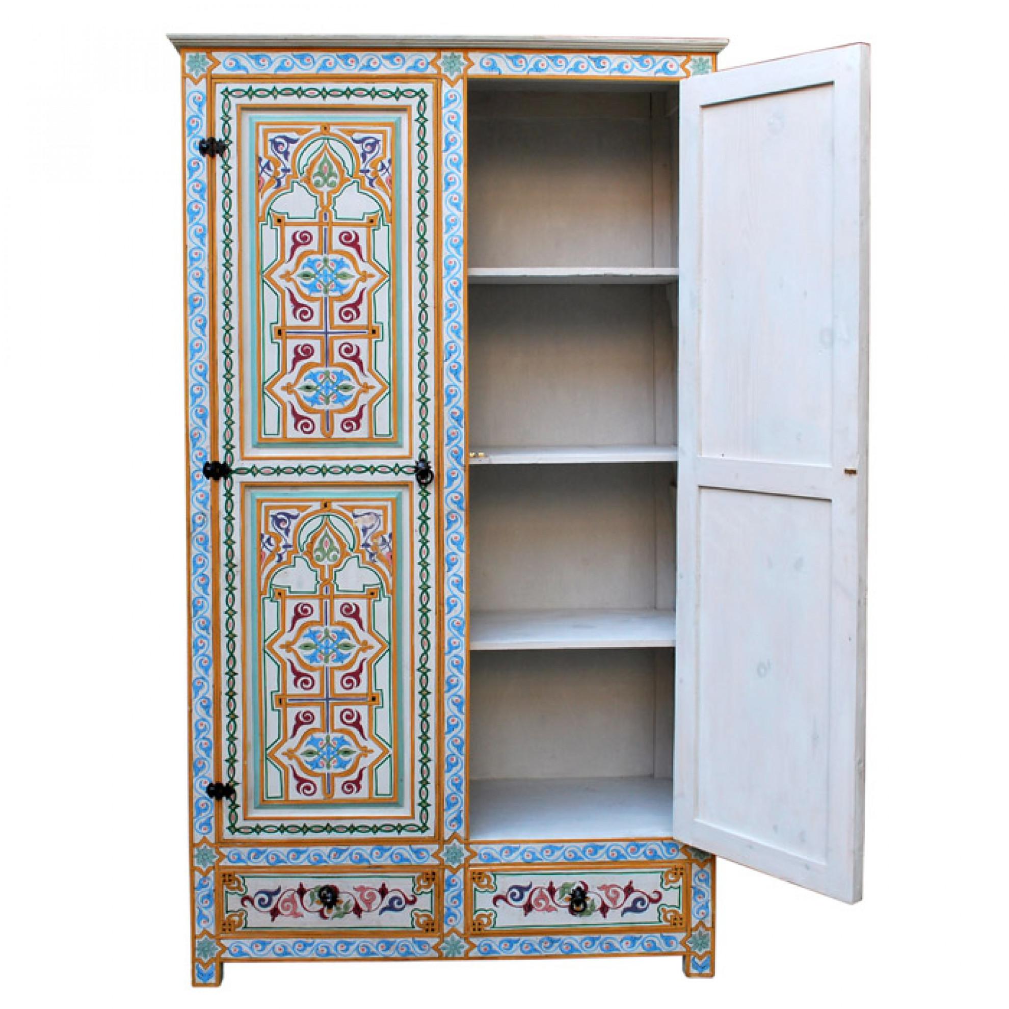 orientalischer holzschrank labyad. Black Bedroom Furniture Sets. Home Design Ideas