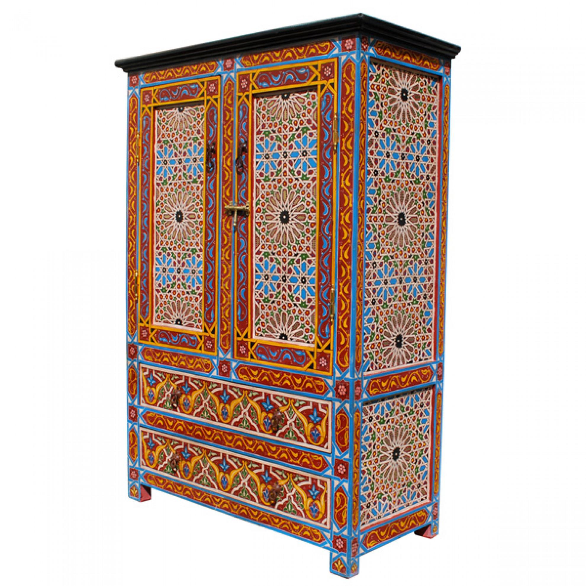 Moderne Einrichtung mit arabischem Flair Teppich an der Wand